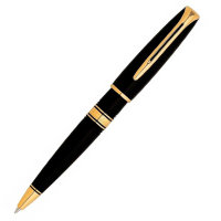 Ручка WATERMAN S0701010 Charleston - Ebony Black GT, шариковая ручка, M